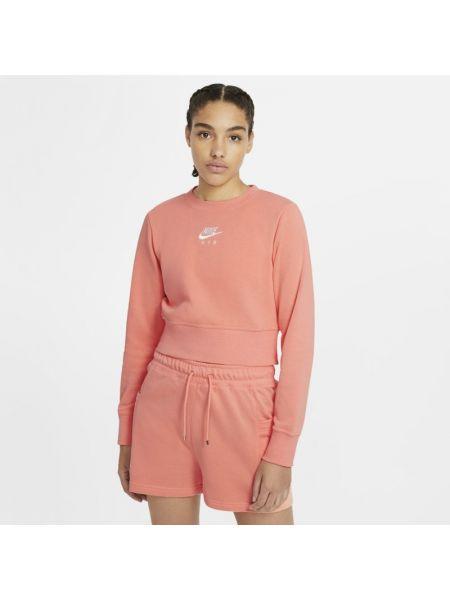 Różowy bluzka z haftem Nike