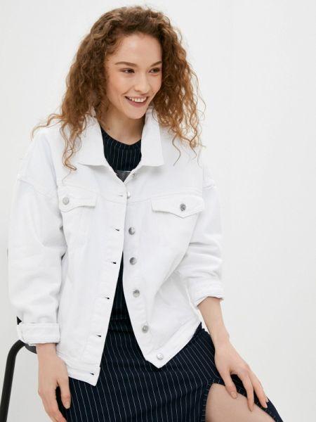 Джинсовая куртка осенняя белая Sh