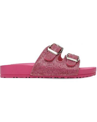 Розовые кожаные сандалии с пряжкой Colors Of California