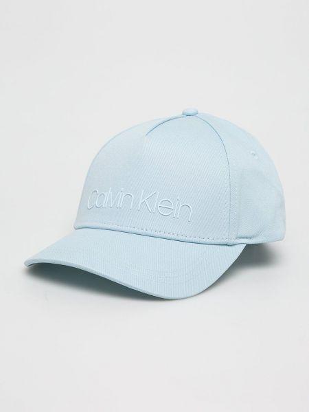 Хлопковая кепка - голубая Calvin Klein