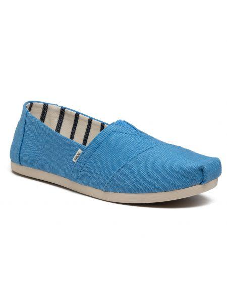 Półbuty casual - niebieskie Toms