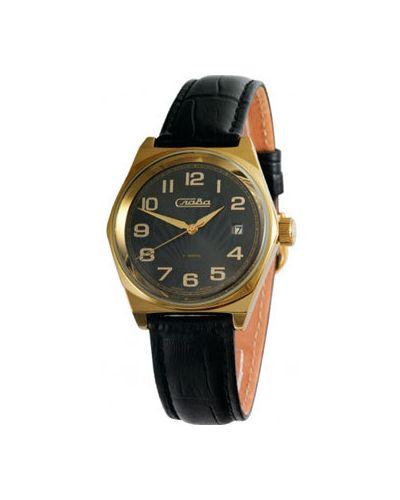 Часы водонепроницаемые механические с кожаным ремешком Слава