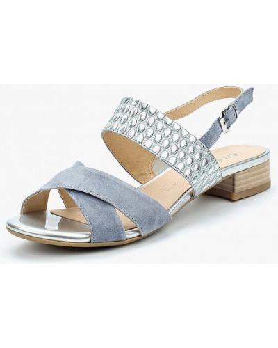 Голубые сандалии замшевые Caprice