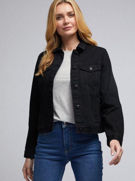 Джинсовая куртка черная весенняя Dorothy Perkins