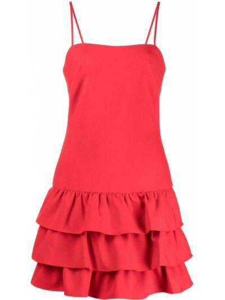 Платье мини с вырезом - красное Likely