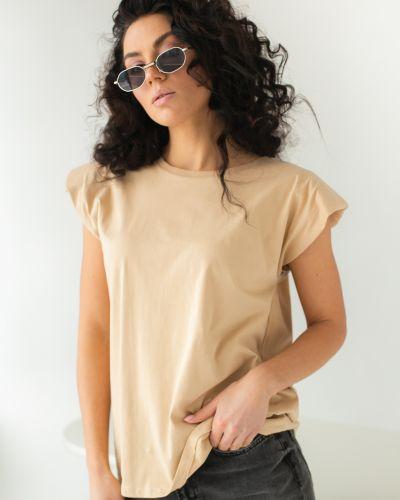 Бежевая базовая футболка Clew