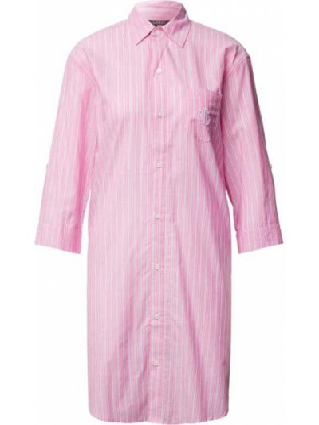Koszula nocna bawełniana - różowa Lauren Ralph Lauren