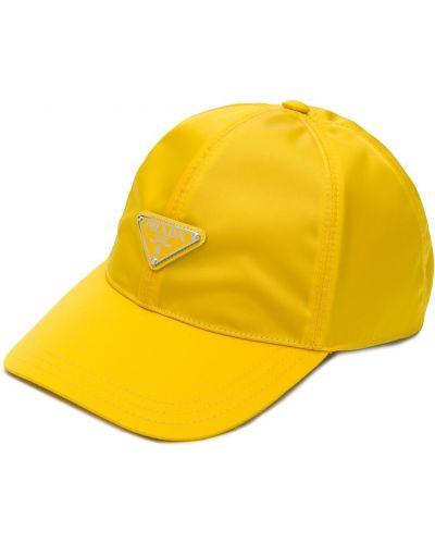 Czapka, żółty Prada