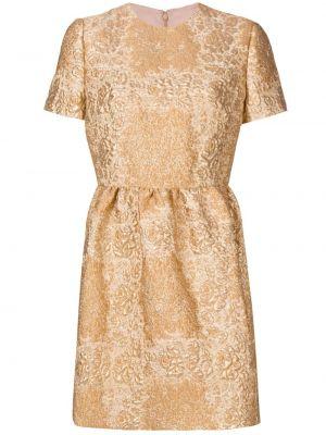 Золотистое платье мини золотое с вырезом Valentino
