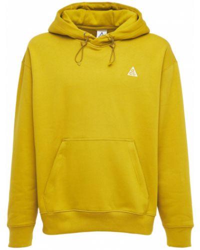 Prążkowana bluza kangurka bawełniana Nike Acg
