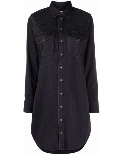 Черное платье рубашка Diesel