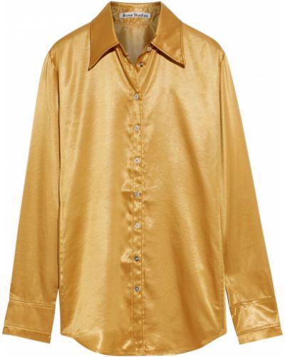 Рубашка с манжетами золотая на пуговицах Acne Studios