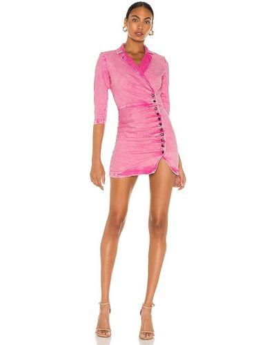 Różowa sukienka na imprezę bawełniana vintage Retrofete