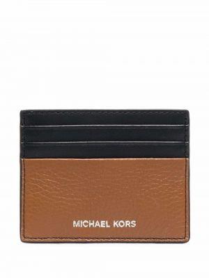 Черный кожаный картхолдер Michael Kors