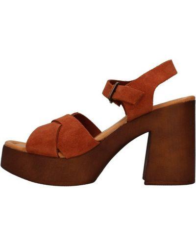Pomarańczowe sandały Bionatura