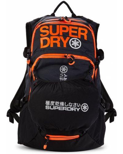 Czarny plecak z siateczką Superdry
