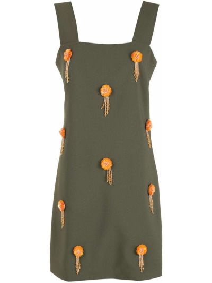 Платье без рукавов - зеленое Olympiah