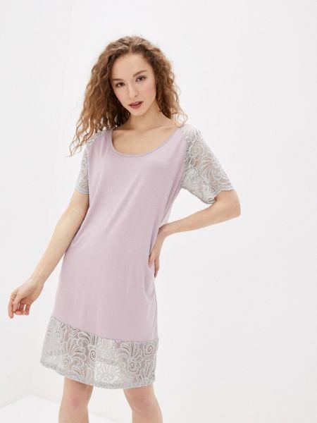 Домашнее розовое платье Tenerezza