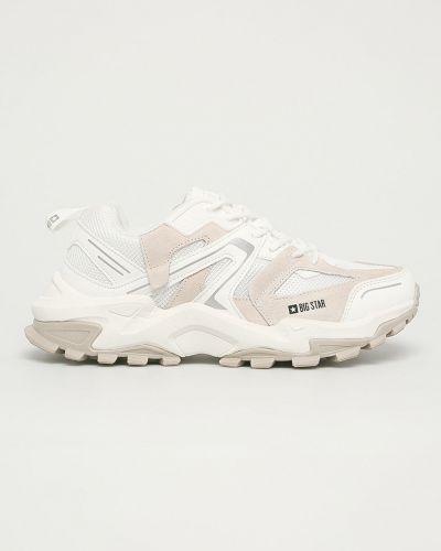 Białe sneakersy skorzane sznurowane Big Star