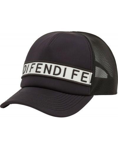 Bawełna baseball bawełna czarny czapka baseballowa Fendi