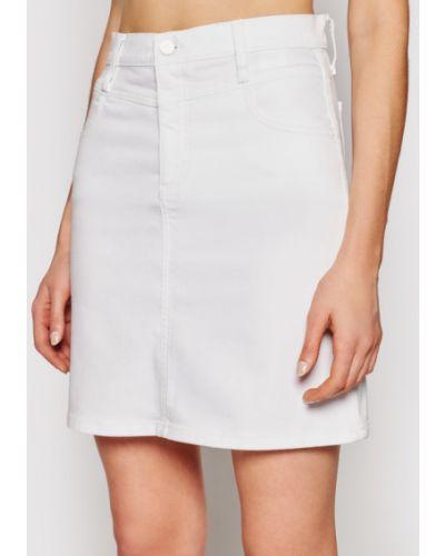 Spódnica jeansowa - biała Calvin Klein