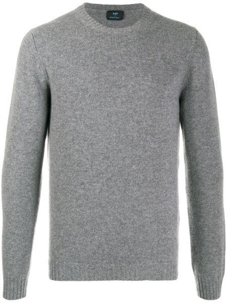 Prążkowany sweter z długimi rękawami Mp Massimo Piombo