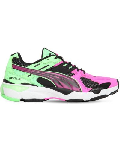 Różowe sneakersy sznurowane koronkowe Puma Select
