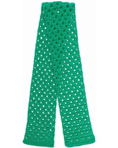 Zielony szalik wełniany Miu Miu