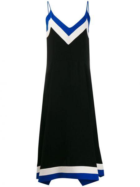 Платье миди с V-образным вырезом - черное Mulberry