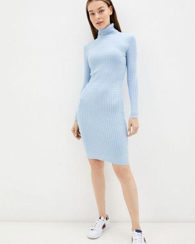 Голубое вязаное платье Izabella