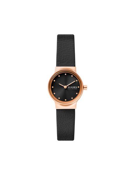 Czarny złoty zegarek Skagen
