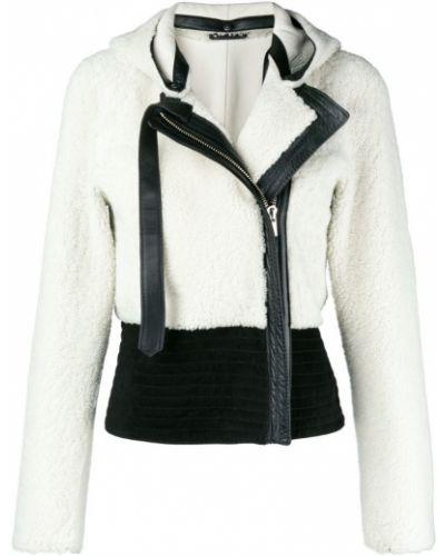 Кожаная куртка с капюшоном черная Cara Mila