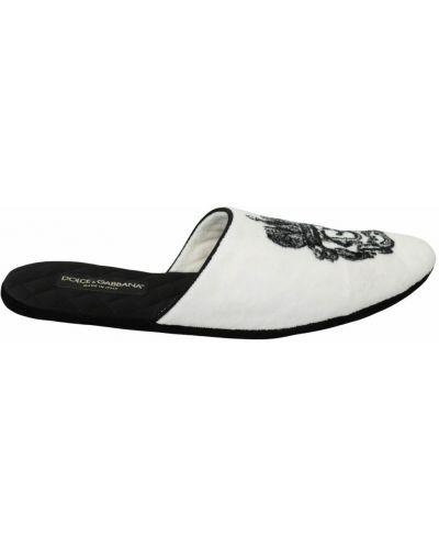 Białe kapcie Dolce And Gabbana
