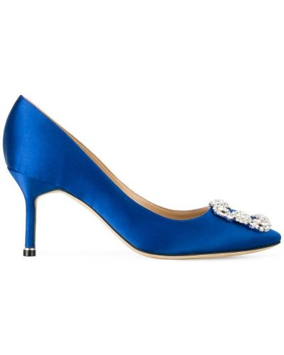 Туфли-лодочки на высоком каблуке кожаные Manolo Blahnik