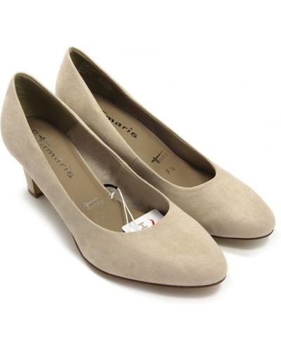 Кожаные туфли - бежевые Tamaris