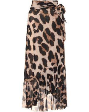 Юбка макси леопардовая с цветочным принтом Ganni