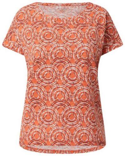 Pomarańczowa bluzka bawełniana Christian Berg Women