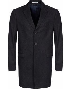 Черное шерстяное пальто Messagerie