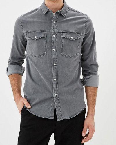 Серая джинсовая рубашка Topman