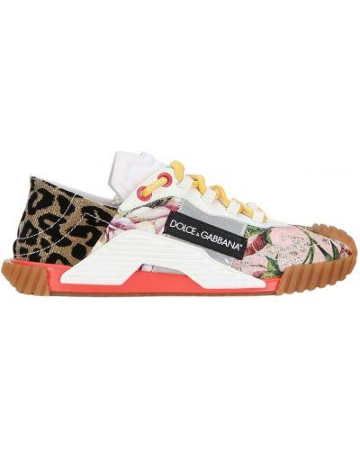 Brązowe sneakersy Dolce And Gabbana