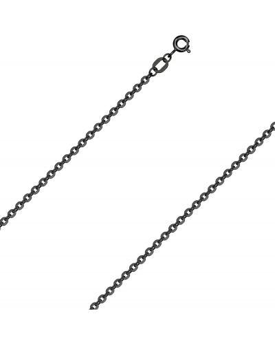 Черная цепочка из серебра круглая с декоративной отделкой красцветмет
