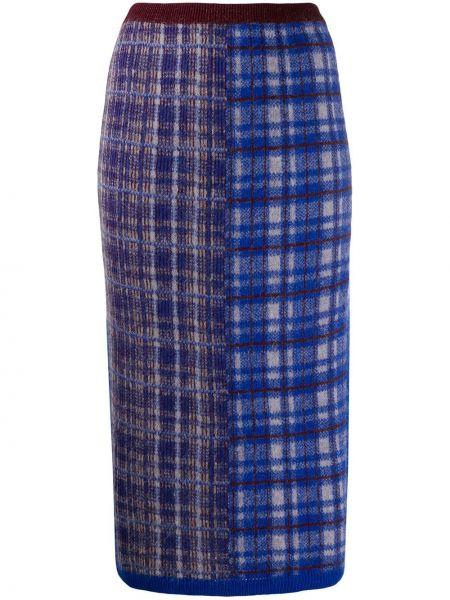 Синяя юбка карандаш с рукавом 3/4 Chiara Bertani