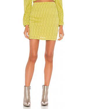 Плиссированная юбка мини с поясом Kendall + Kylie
