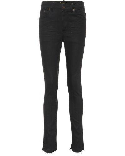 Zawężony czarny obcisłe dżinsy Saint Laurent
