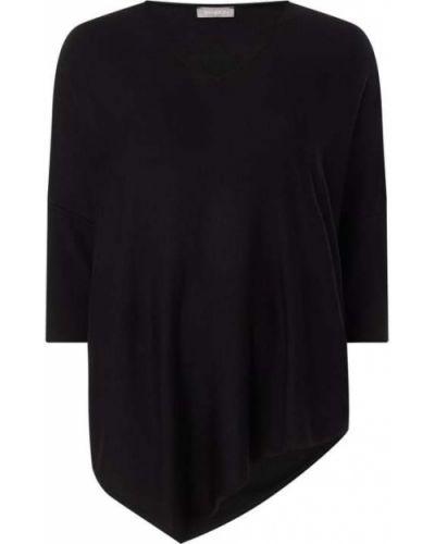 Czarny sweter z wiskozy z dekoltem w serek Samoon