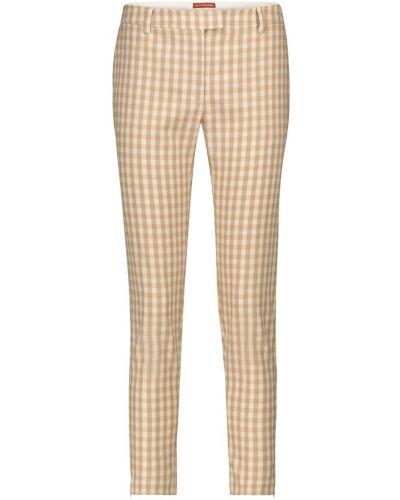 Шерстяные бежевые брюки Altuzarra