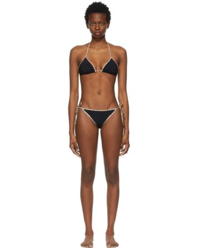 Złoty czarny bikini Burberry