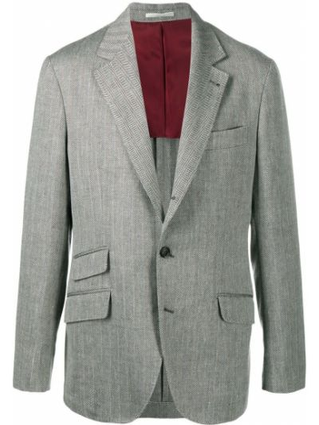 Шелковый черный классический пиджак с карманами Brunello Cucinelli