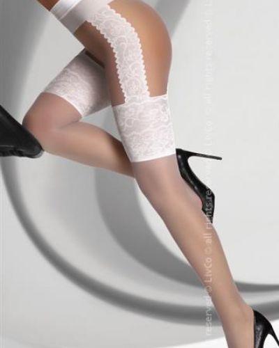 Rajstopy z paskiem - białe Livco Corsetti