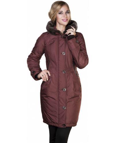 Пальто с капюшоном на кнопках из кролика J-splash